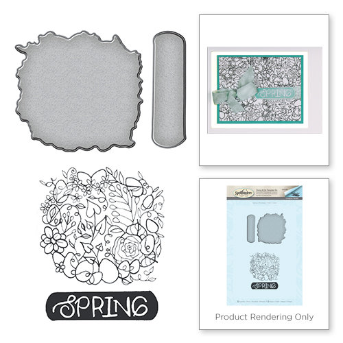 Spellbinders - Spring Love Collection - Die and Cling Mounted Rubber Stamps - Spring