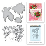 Spellbinders - Spring Love Collection - Die and Cling Mounted Rubber Stamps - Lemon