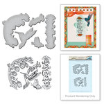 Spellbinders - Spring Love Collection - Die and Cling Mounted Rubber Stamps - Hummingbird
