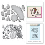 Spellbinders - Spring Love Collection - Die and Cling Mounted Rubber Stamps - Feather and Beetles