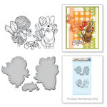 Spellbinders - Spring Love Collection - Die and Cling Mounted Rubber Stamps - Bunny