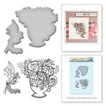 Spellbinders - Spring Love Collection - Die and Cling Mounted Rubber Stamps - Teacup