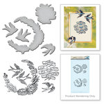Spellbinders - Spring Love Collection - Die and Cling Mounted Rubber Stamps - Swallow
