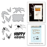 Spellbinders - Holiday Collection - Die and Cling Mounted Stamps - Happy Halloween