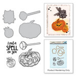 Spellbinders - Holiday Collection - Halloween - Die and Cling Mounted Stamps - Spell on You