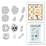 Spellbinders - Holiday Collection - Halloween - Die and Cling Mounted Stamps - Trick or Treat