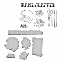 Spellbinders - Sew Handmade Collection - Die and Cling Mounted Stamps - Handcrafted