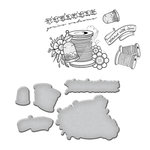 Spellbinders - Sew Handmade Collection - Die and Cling Mounted Stamps - Sew