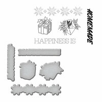 Spellbinders - Sew Handmade Collection - Die and Cling Mounted Stamps - Happiness