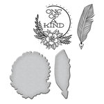 Spellbinders - Sew Handmade Collection - Die and Cling Mounted Stamps - One of a Kind