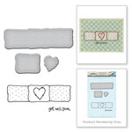 Spellbinders - Happy Grams 3 Collection - Die and Cling Mounted Stamps - Get Well Soon