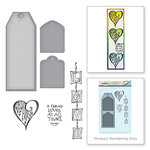 Spellbinders - Bible Journaling Collection - Die and Cling Mounted Rubber Stamps - Love