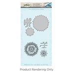 Spellbinders - Cool Vibes Collection - Die and Cling Mounted Stamps - Sunflower