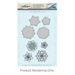 Spellbinders - Cool Vibes Collection - Die and Cling Mounted Stamps - Mandalas