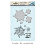 Spellbinders - Cool Vibes Collection - Die and Cling Mounted Stamps - Light Shine