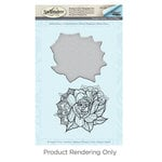 Spellbinders - Cool Vibes Collection - Die and Cling Mounted Stamps - Medium Peony