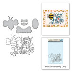 Spellbinders - Happy Grams 4 Collection - Die and Cling Mounted Stamps - Bee Any Sweeter