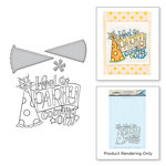 Spellbinders - Happy Grams 4 Collection - Die and Cling Mounted Stamps - Party