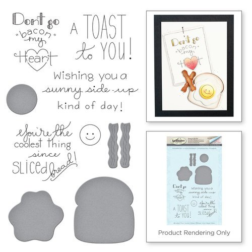 Spellbinders - Love Set Match Collection - Die and Cling Mounted Stamp Set - The Breakfast Club