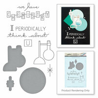 Spellbinders - Love Set Match Collection - Die and Cling Mounted Stamp Set - Reaction