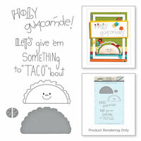 Spellbinders - Love Set Match Collection - Die and Cling Mounted Stamp Set - Cool Beans