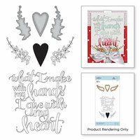 Spellbinders - Sew Sweet Collection - Die and Cling Mounted Stamps - What I Make With My Hands
