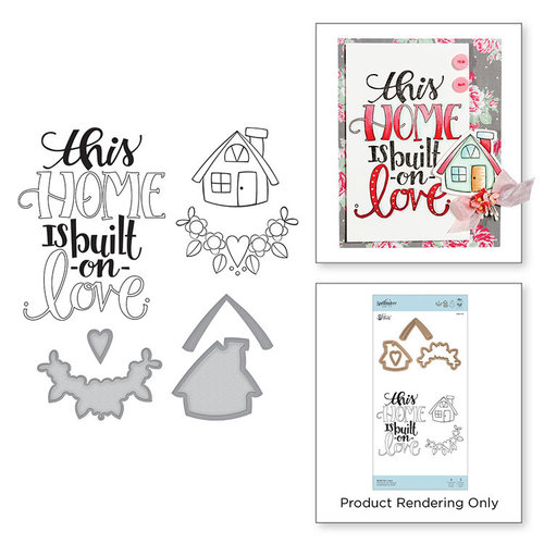 Spellbinders - Sew Sweet Collection - Die and Cling Mounted Stamps - Built On Love