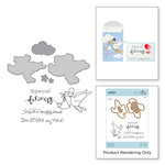 Spellbinders - The Perfect Match Collection - Die and Cling Mounted Stamps - New Arrival