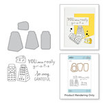 Spellbinders - The Perfect Match Collection - Die and Cling Mounted Stamps - Grateful