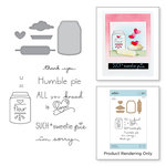 Spellbinders - The Perfect Match Collection - Die and Cling Mounted Stamps - Flour Power