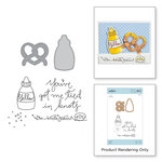Spellbinders - The Perfect Match Collection - Die and Cling Mounted Stamps - Twisted