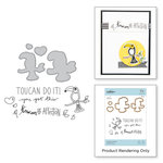 Spellbinders - The Perfect Match Collection - Die and Cling Mounted Stamps - Friends of a Feather