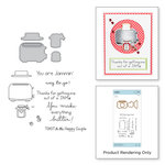 Spellbinders - The Perfect Match Collection - Die and Cling Mounted Stamps - Toast with Jam 'n Bread