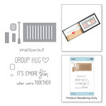 Spellbinders - The Perfect Match Collection - Die and Cling Mounted Stamps - Fire Up the Grill