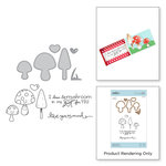 Spellbinders - The Perfect Match Collection - Die and Cling Mounted Stamps - Getting All Mushy