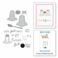 Spellbinders - The Perfect Match Collection - Die and Cling Mounted Stamps - Shake It Up