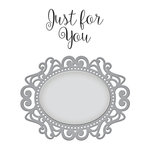 Spellbinders - Die and Clear Acrylic Stamp Set - Just For You