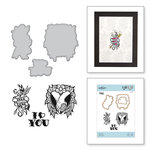 Spellbinders - Inked Messages Collection - Die and Cling Mounted Stamps - True Love
