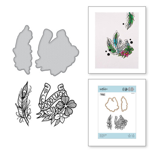Spellbinders - Inked Messages Collection - Die and Cling Mounted Stamps - A Little Birdie Told Me
