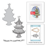 Spellbinders - Zenspired Holidays Collection - Christmas - Die and Clear Acrylic Stamps - Christmas Joy