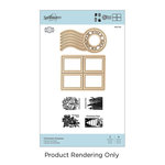 Spellbinders - A Charming Christmas Collection - Die and Cling Mounted Rubber Stamps - Christmas Postman