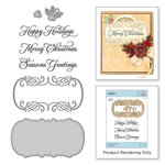Spellbinders - A Charming Christmas Collection - Die and Cling Mounted Rubber Stamps - Christmas Stamp
