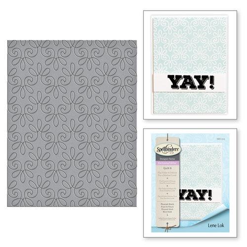 Spellbinders - Quilt It - Embossing Folders - Flourish Stitch