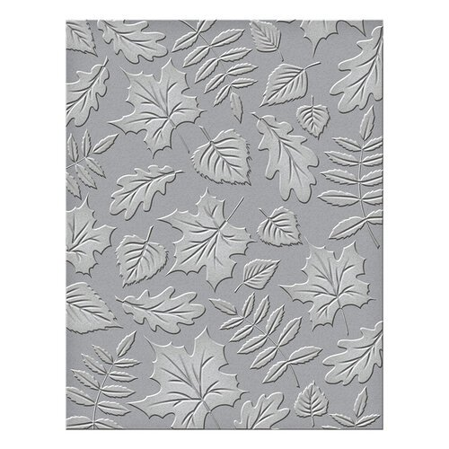 Spellbinders - Fall Traditions Collection - Embossing Folder - Falling Leaves