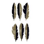 Spellbinders - Silver and Gold Collection - Sparkle Feathers Stickers