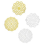 Spellbinders - Silver and Gold Collection - Elegant Doilies