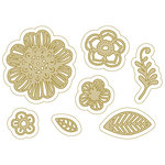 Spellbinders - Silver and Gold Collection - Die - Full Bloom