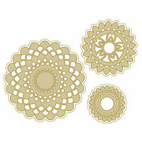 Spellbinders - Silver and Gold Collection - Die - Doily Burst