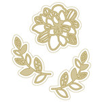 Spellbinders - Silver and Gold Collection - Die - Marigold