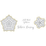 Spellbinders - Silver and Gold Collection - Die and Clear Acrylic Stamp Set - Silver Lining